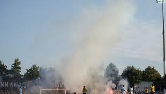 Letzt Rauchzeichen aus Schaffhausen: Das Stadion Breite erlebte seine Derniere