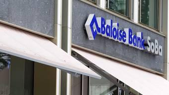 Die Türen von kleineren Filialen der Baloise Bank SoBa blieben geschlossen. (Archiv)