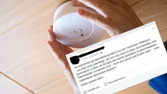 Dieser Aufruf geht derzeit durch die sozialen Medien. Darin wird von unechten Rauchmelderkontrolleuren gewarnt.