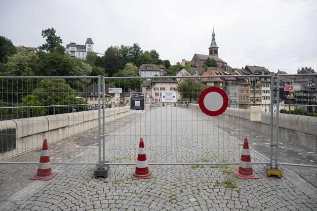 So sah der Grenzübergang in Laufenburg am Freitag noch aus.