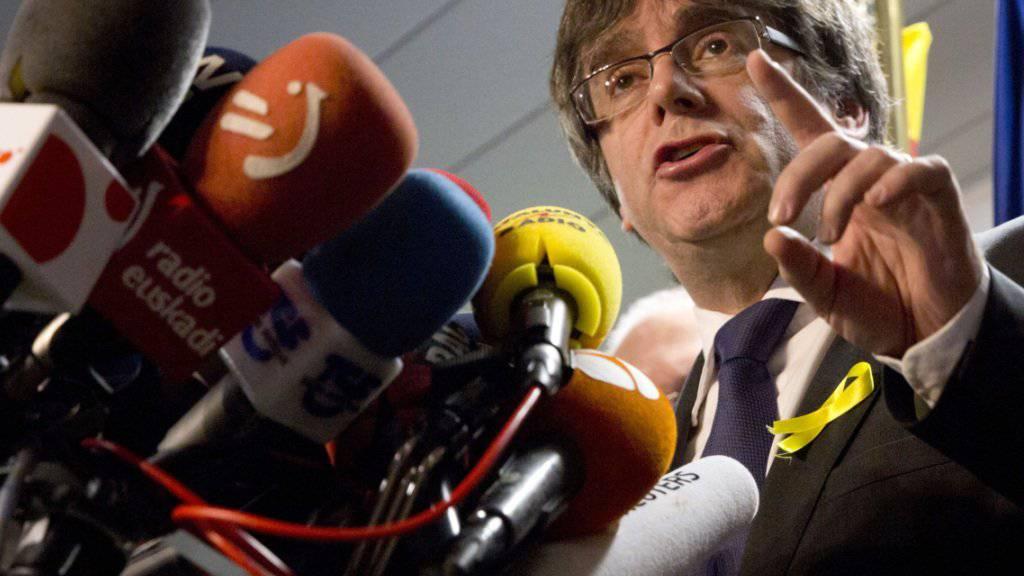 Will aus dem Exil in Belgien zurück an die Macht in Katalonien: der abgesetzte katalanische Regionalpräsident Carles Puigdemont. (Archivbild)