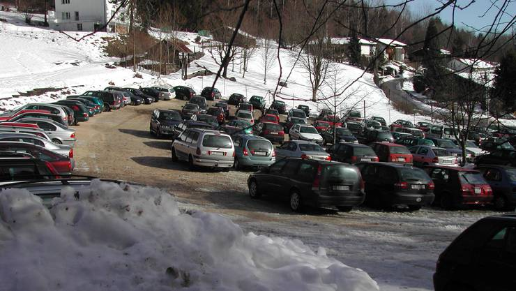 Bei schönem Wetter füllte sich der Parkplatz schnell
