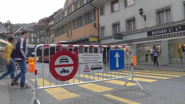 Thuner Innenstadt fürchtet Konkurs wegen Riesenbaustelle
