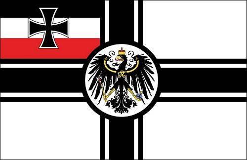 Die Reichskriegsflagge.