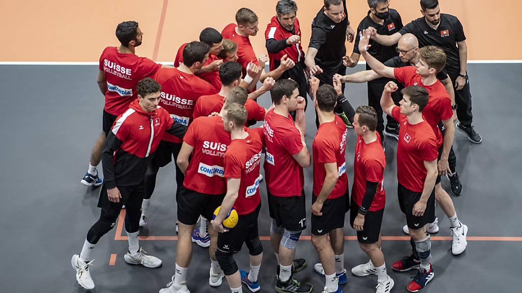 Die Schweizer Volleyballer bleiben gegen Albanien ohne Satzverlust