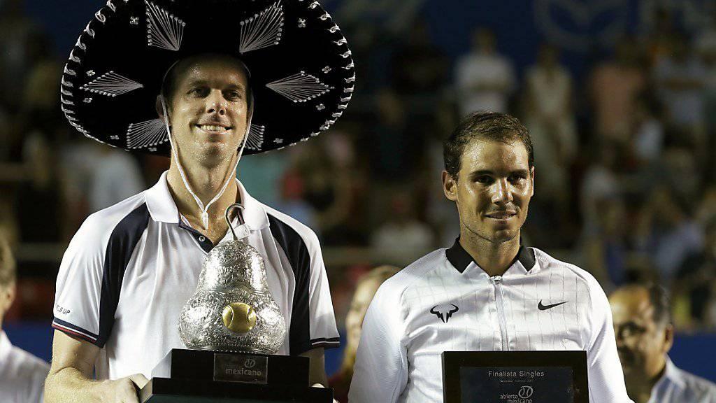 Sam Querrey (links) spielte das Turnier seines Lebens und bezwang im Final Rafael Nadal