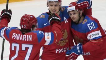 Die Russen liessen am Tag des Sieges nichts anbrennen