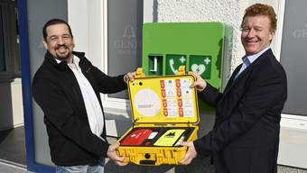 Jean-Pierre Jordi (links) und Patrick Saladin.