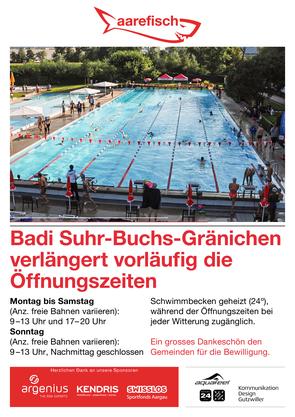 Badi Suhr verlängert Sommersaison
