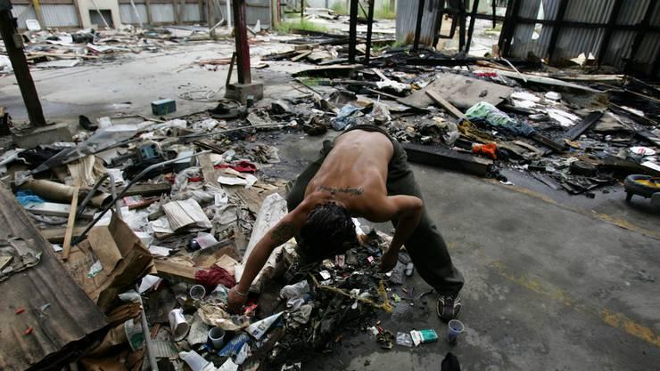 Im Gegensatz zur Altstadt von San Juan reagieren im Slum-Viertel «La Perla» Armut...