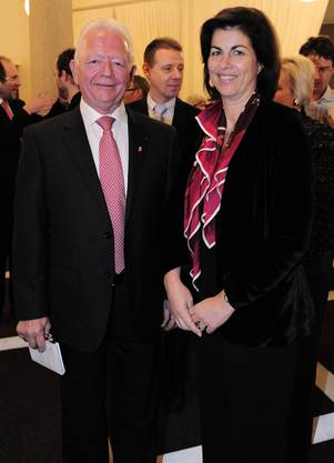 Charles Buttner in Begleitung von Ehefrau Valérie Buttner