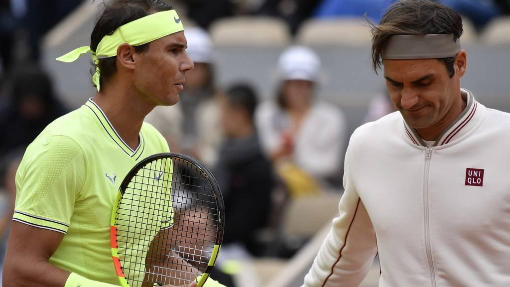 Auf dem Platz Rivalen, daneben gute Freunde: Rafael Nadal und Roger Federer.