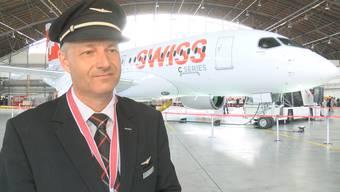 Die Swiss präsentieren stolz ihr neustes Flugzeug, die Bombardier-Maschine vom Typ C-Series 100. Weniger Freude hat die Pilotengewerkschaft Aeropers.