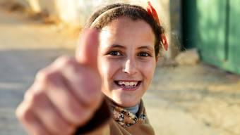 Sara aus Duma: «Salam, ich hoffe, es geht euch gut.»