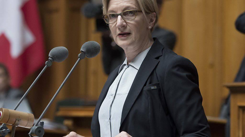 Fraktionspräsidentin Gabi Huber (FDP/UR) hat am Mittwoch eine positive Legislaturbilanz der FDP-Liberalen-Fraktion gezogen. (Archivbild)