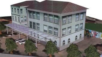 So soll der Pausenplatz im Schulhaus Oberdorf dereinst aussehen.