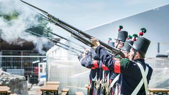 Ein Bild des Festakts vom eidgenössischen Jugendschützenfest vom vergangenen Jahr.