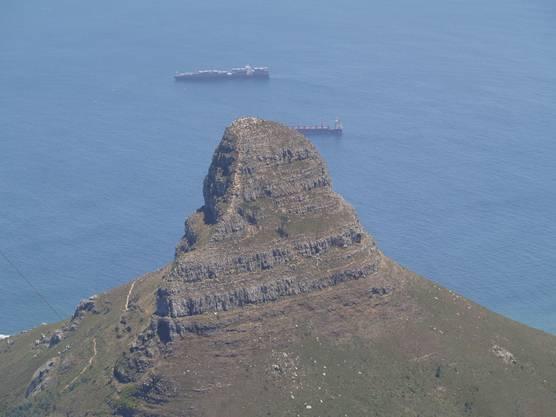 Eine weitere Sehenswürdigkeit in Cape Town: Der «Lions Head». (Vasilije Mustur)