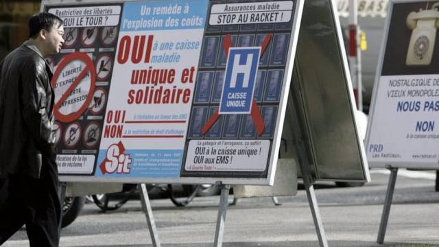 Nein zur Einheitskrankenkasse beschäftigt die Schweizer Presse