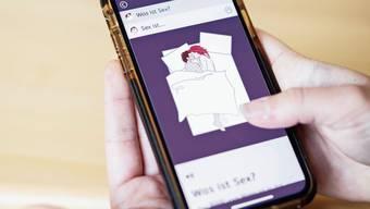«Was ist Sex?» Die Themen der Aufklärungs-App sind über Links miteinander verbunden.