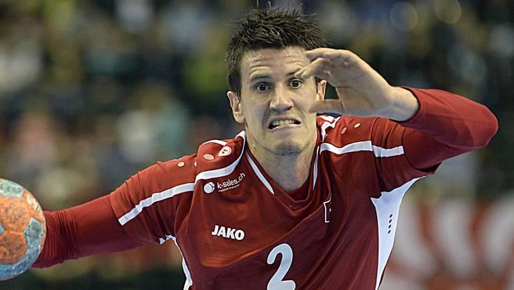 Andy Schmid trug am Yellow Cup in Winterthur mit seinen acht Treffern massgeblich zur Final-Qualifikation der Schweiz bei