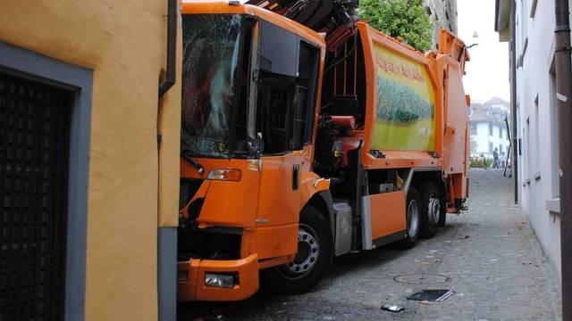Der Kübelwagen machte sich selbstständig (Quelle: Polizei Schaffhausen)