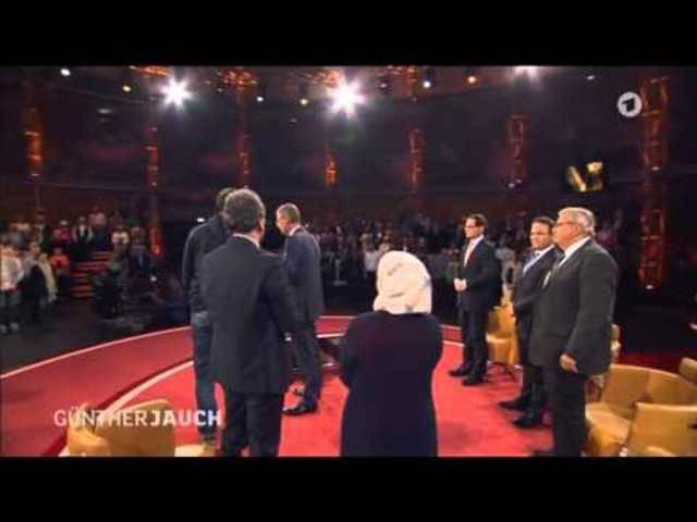 Schweigeminute bei Günther Jauch
