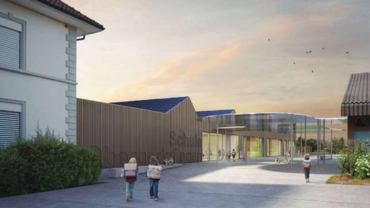 Der Neubau der Schule