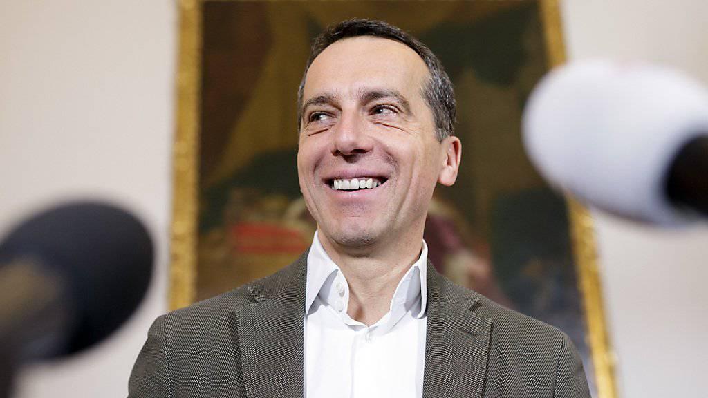 Österreichs Bundeskanzler Christian Kern hat wieder Grund zum Lachen (Archiv)