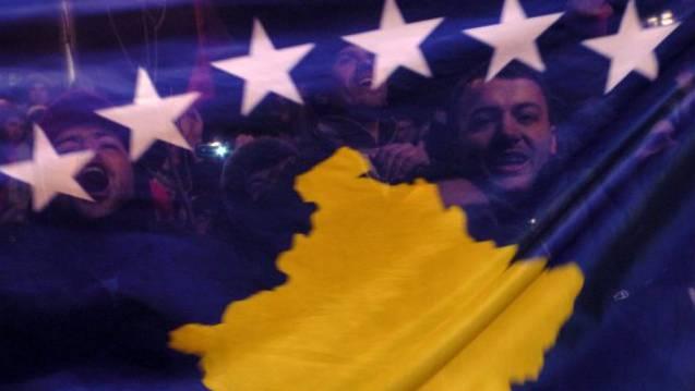 Nationalflagge des Kosovo