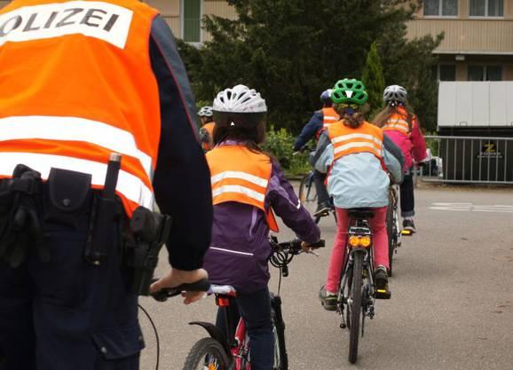 Ziel der Instruktion ist mehr Sicherheit und Freude beim Fahrradfahren.
