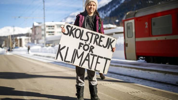 Aushängeschild der geplanten Winterwanderung im Vorfeld des Weltwirtschaftsforums ist die schwedische Klimaaktivistin Greta Thunberg.