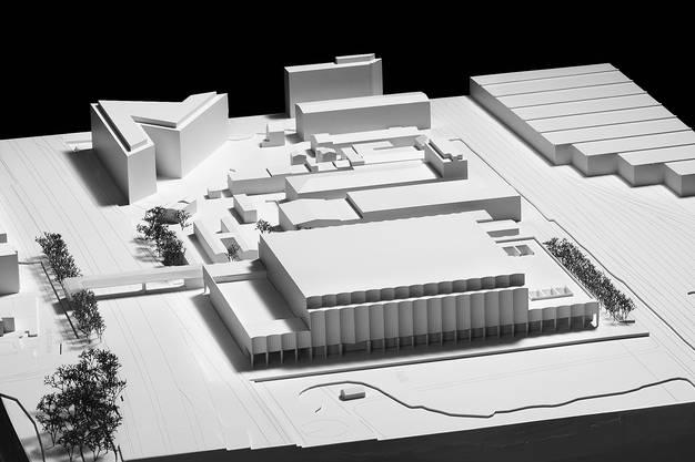 Modell des neuen Stadions.