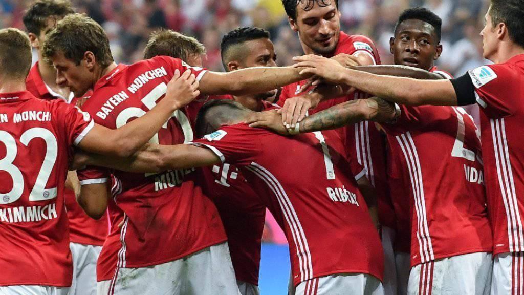 Bayern München hatte schon wieder viel Grund zum Jubeln
