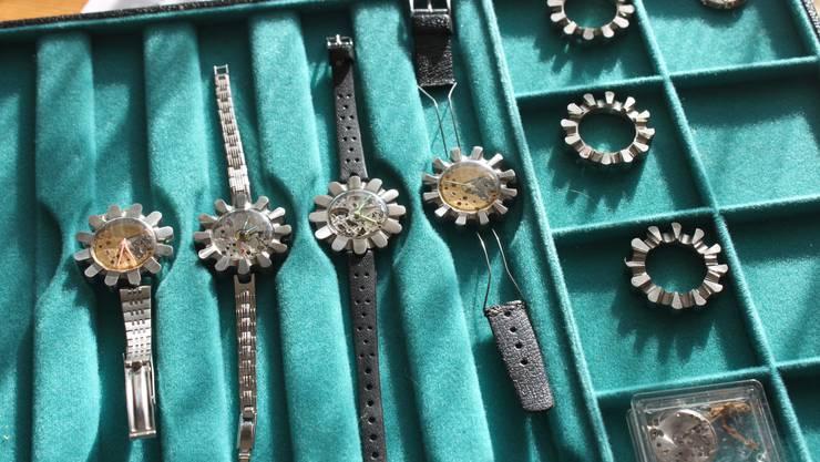 Edgar Sutter entwarf auch eigene Uhrengehäuse
