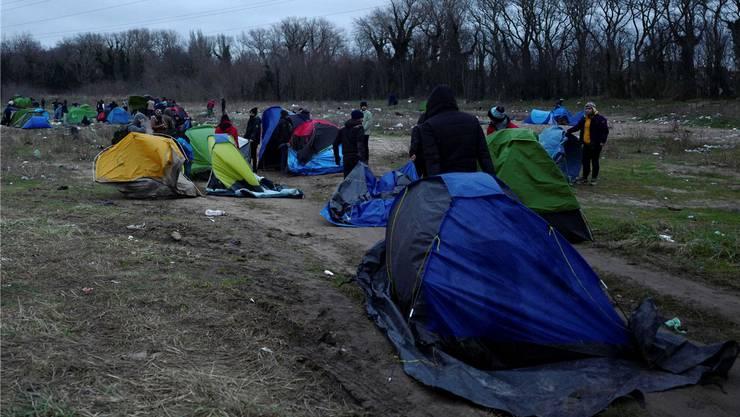 Migranten-Camp in Calais.