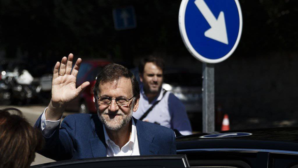 Wohin wird ihn das Wahlresultat führen? Spaniens Regierungschef Mariano Rajoy nach Abgabe seiner Stimme