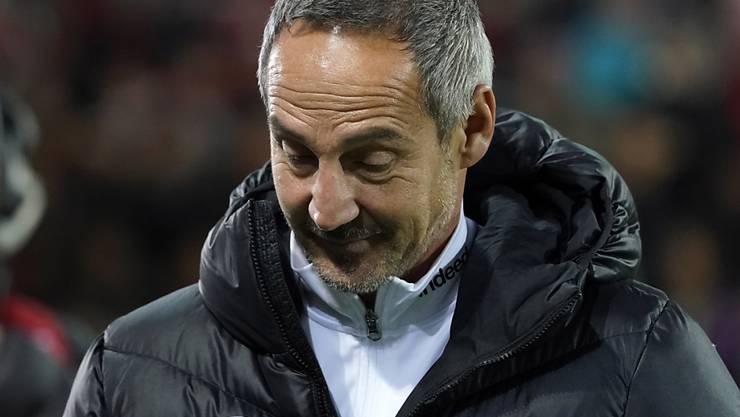 Adi Hütter und Eintracht Frankfurt sind in der Bundesliga in Schieflage geraten
