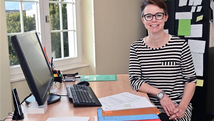 Privates und Arbeit vereint: Karin Heimann arbeitet meist im Homeoffice und schätzt die Freiheiten der Selbstständigkeit.