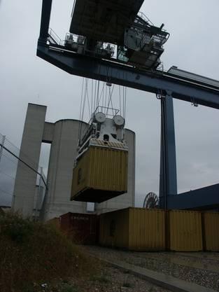 600 solcher Container sollen künftig im Limmattal verarbeitet werden - täglich (Bild, Anlage Rekingen)