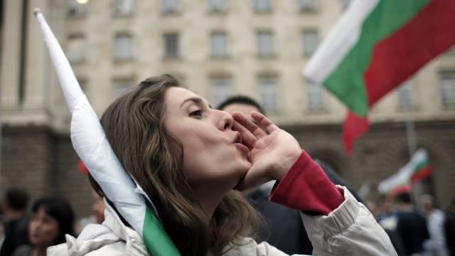 In Bulgarien dauern die Proteste gegen die Regierung an (Archiv)
