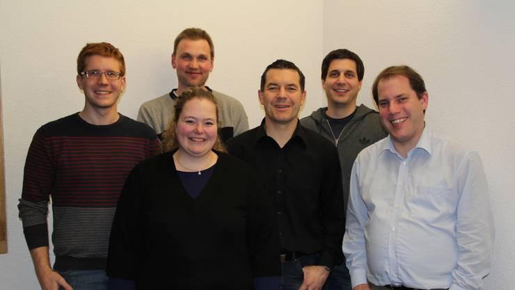vl. nach rechts: Daniel Büchi, Wendelin Müller, Beat Jeggli, Dominik Laube, Philipp Laube vorne: Christine Fankhauser