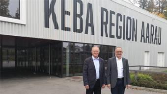 Keba-Präsident Daniel Lüscher (l.) und Stadtpräsident Hanspeter Hilfiker.