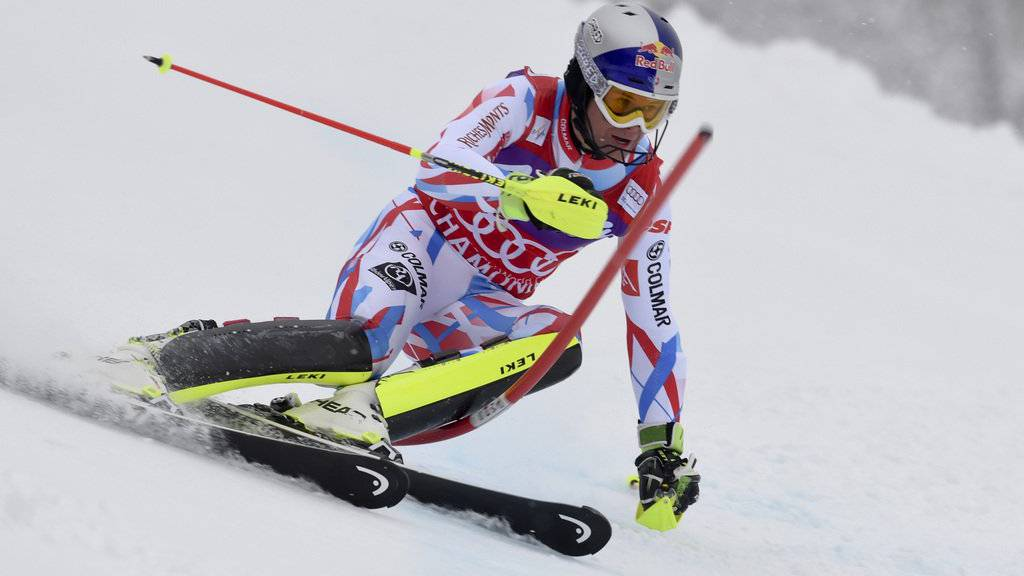 Alexis Pinturault während dem Kombi-Slalom in Chamonix.