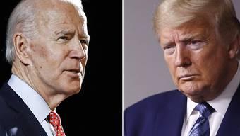 ARCHIV - Joe Biden (l) fordert im November Amtsinhaber Donald Trump heraus. Foto: Rourke/Semansky/AP/dpa