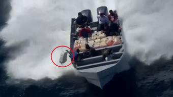 Der US-Küstenwache ging vor San Diego eine Bande Drogenschmuggler ins Netz. Nach einer wilden Verfolgungsjagd auf dem Wasser konnte eine Tonne Kokain sichergestellt werden.
