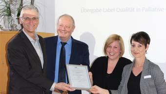 Übergabe des Labels «Qualität in Palliative Care».