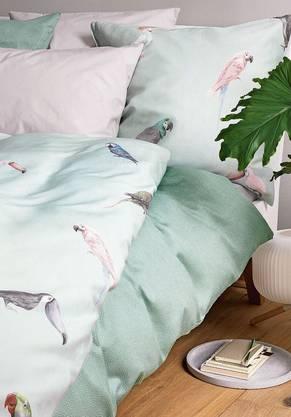 In zarten Grüntönen lässt sich selig schlafen.