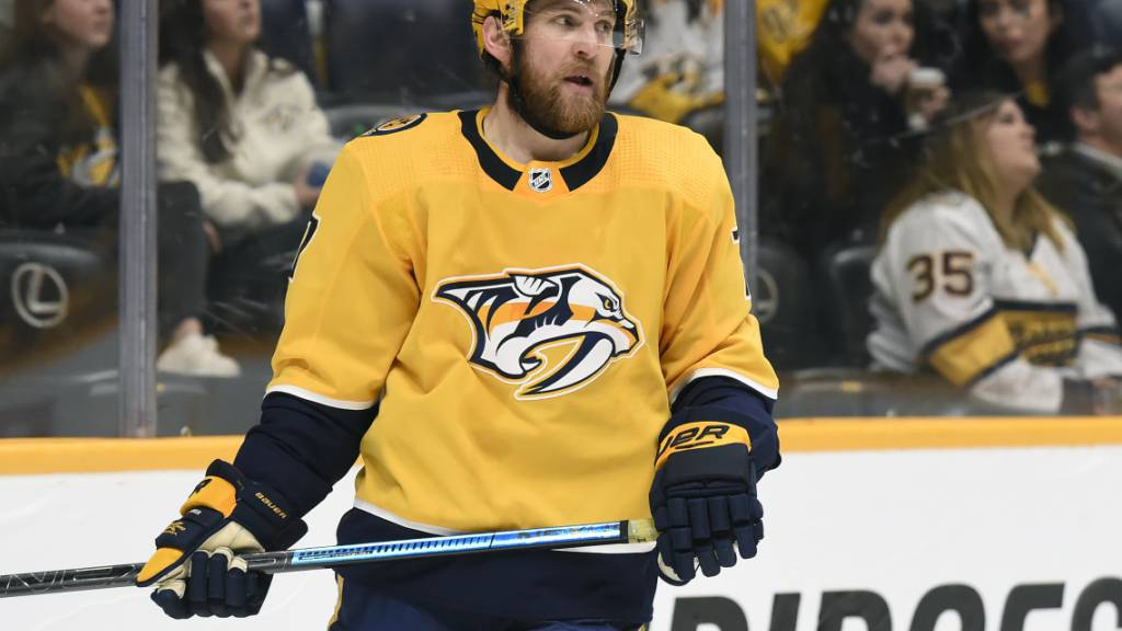 Yannick Weber im Trainingscamp der Predators