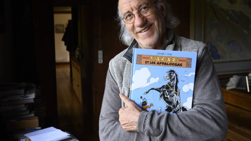 Hat den kleinen Sioux Yakari vor 50 Jahren erschaffen: Der Waadtländer Comiczeichner Claude de Ribaupierre alias Derib.